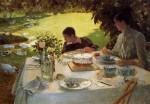 Живопись | Джузеппе де Ниттис | Colazione in giardino, 1884
