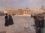 Живопись | Giuseppe De Nittis | La Place du Carrousel, Paris. The Ruins of the Tuileries, 1882