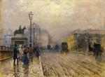 Живопись | Джузеппе де Ниттис | Rue de Paris with Carriages