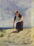 Живопись | Джузеппе де Ниттис | Signora alla spiaggia