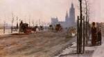 Живопись | Джузеппе де Ниттис | The Victoria Embankment, London, 1875