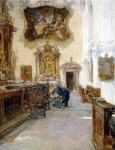 Живопись | Готхард Кюль | Интерьер собора Св. Петра в Зальцбурге, 1912