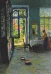 Живопись | Готхард Кюль | Комната с выходом в сад, 1897
