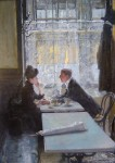 Живопись | Gotthardt Kuehl | In the Coffeehouse, 1915