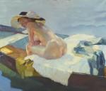 Живопись | Лео Путц | На лодке, 1912