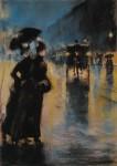 Живопись | Lesser Ury | Nachtbeleuchtung, 1899