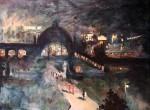 Живопись | Лессер Ури | Станция Ноллендорфплац вечером, 1925