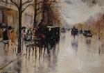 Живопись | Лессер Ури | Вид на бульвар Унтер ден Линден, 1922
