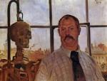 Живопись | Ловис Коринт | Автопортрет со склетом, 1896