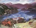 Живопись | Ловис Коринт | Вальхензее, пейзаж с коровой, 1921