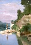 Живопись | Odoardo Borrani | Fisherman on Arno at Casaccia, 1871