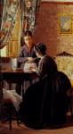 Живопись | Odoardo Borrani | The Illiterate, 1869