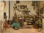 Живопись | Odoardo Borrani | Visita allo studio, 1890