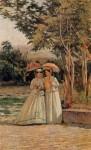 Живопись | Silvestro Lega | A Walk in the Garden, 1870