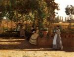 Живопись | Silvestro Lega | Un dopo pranzo o Il pergolato, 1868