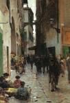 Живопись | Телемако Синьорини | Флорентийское гетто, 1882