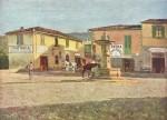 Живопись | Telemaco Signorini | Piazzetta di Settignano, 1880