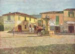 Живопись | Телемако Синьорини | Площадь Сеттиньяно, 1880