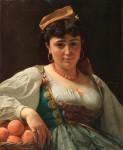 Живопись | Вито Д'Анкона | La venditrice siciliana di arance