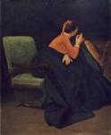 Живопись | Vito D'Ancona | Signora in conversazione, 1865