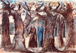 Иллюстрация | Уильям Блейк | Данте, «Божественная комедия» | Гарпии, Ад