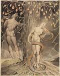 Иллюстрация | Уильям Блейк | Джон Мильтон, «Потерянный рай» | Искушение и грехопадение Евы, 1808