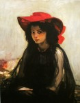 Живопись | Александр Мурашко | Девушка в красной шляпе
