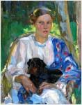 Живопись | Александр Мурашко | Женщина с собакой
