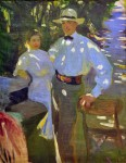 Живопись | Александр Мурашко | Солнечные пятна. Жорж и Александра, 1908