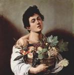 Живопись | Караваджо | Мальчик и корзина с фруктами, 1593