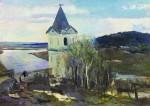 Живопись | Сергей Герасимов | Пейзаж с башней. Начало весны, 1940