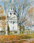 Живопись | Childe Hassam | Church at Old Lyme, 1903
