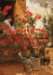 Живопись | Чайлд Хассам | Geraniums, 1888