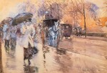 Живопись | Childe Hassam | Rainy Day on Fifth Avenue, 1893