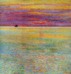 Живопись | Childe Hassam | Sunset at Sea, 1911