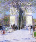 Живопись | Childe Hassam | Washington Arch, Spring, 1893