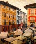 Живопись | Darío de Regoyos y Valdés | Mercado de Villarnaca de Oria, 1909