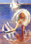Живопись | Эдмунд Чарльз Тарбелл | Girl with Sailboat, 1899