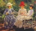 Живопись | Edmund Charles Tarbell | In a Garden, 1890