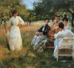 Живопись | Эдмунд Чарльз Тарбелл | В саду, 1891
