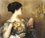 Живопись | Эдмунд Чарльз Тарбелл | Lady with a Corsage, 1911