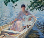 Живопись | Edmund Charles Tarbell | Mother and Child in a Boat, 1892