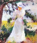 Живопись | Edmund Charles Tarbell | My Wife Emeline in a Garden, 1895