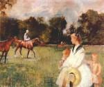 Живопись | Edmund Charles Tarbell | Schooling the Horses, 1902
