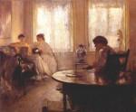 Живопись | Эдмунд Чарльз Тарбелл | Three Girls Reading, 1907