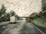 Живопись | Francis McCrory | Rainy Windscreen Paintings | Pieces Of Sky