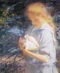 Живопись | Frank Weston Benson | Eleanor Holding a Shell, 1902
