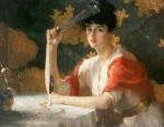 Живопись | Frank Weston Benson | Red and Gold, 1915