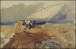 Живопись | Ignacio Pinazo Camarlench | Barca en la playa de Cabañas (Valencia), 1880