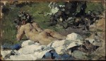 Живопись | Ignacio Pinazo Camarlench | Fauno (desnudo infantil), 1888